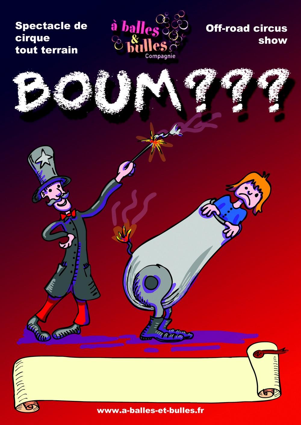 L'affiche du spectacle BOUM???
